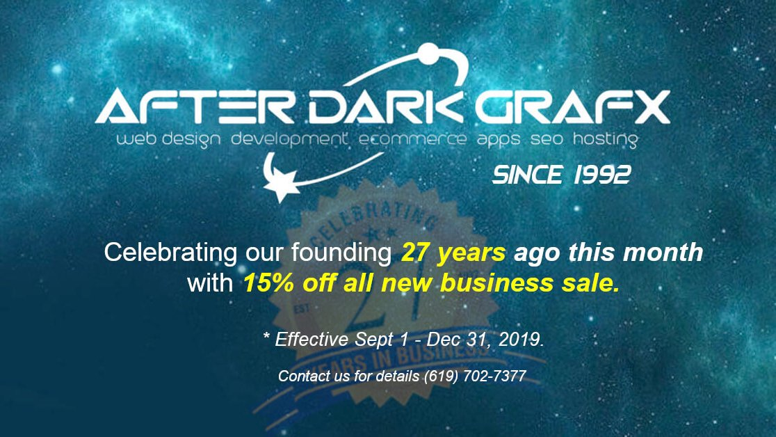 Website Design Company San Diego Over 25 Years - After Dark Grafx