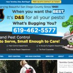 D and S Termite Pest Control Website Design San Diego