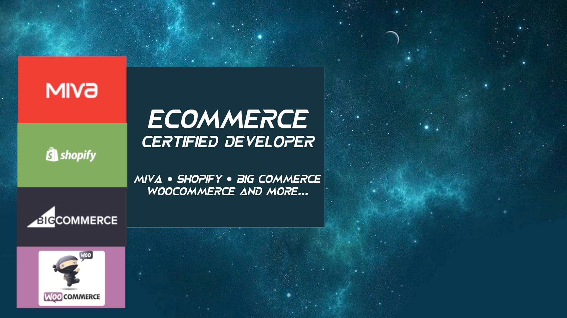 Ecommerce Developer Miva Shopify Big Commerce