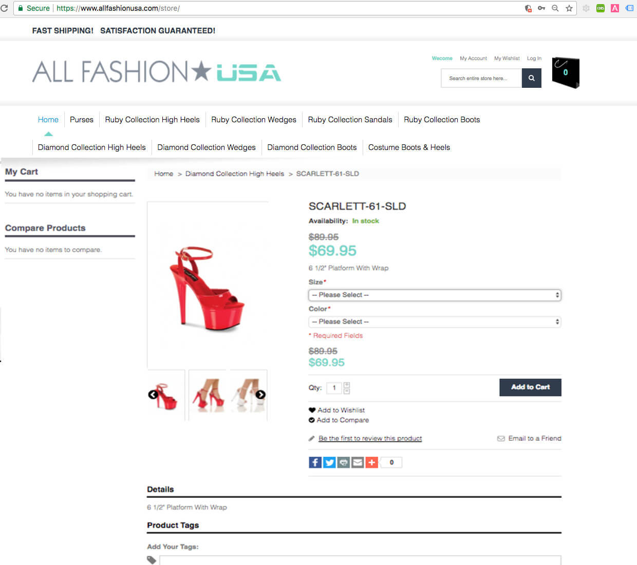 Magento Product Page Example - by After Dark Grafx