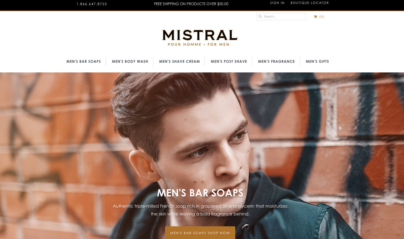 Mistral Soap Shopify Design Integration