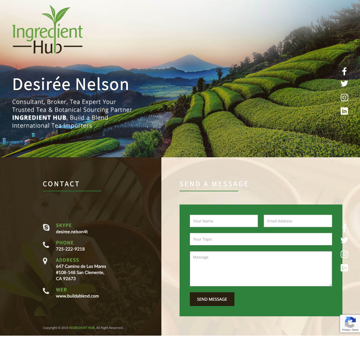 Website Design Wordpress Developer After Dark Grafx Ingredient Hub