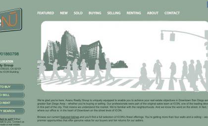 Wordpress Hosting San Diego - Avenu Realty Group - After Dark Grafx