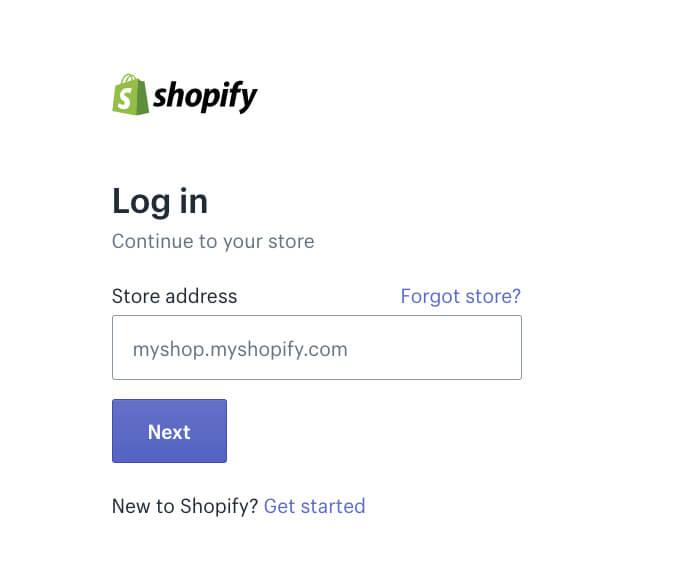 Shopify Login