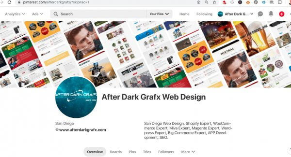 After Dark Grafx on Pinterest San Diego Website Design