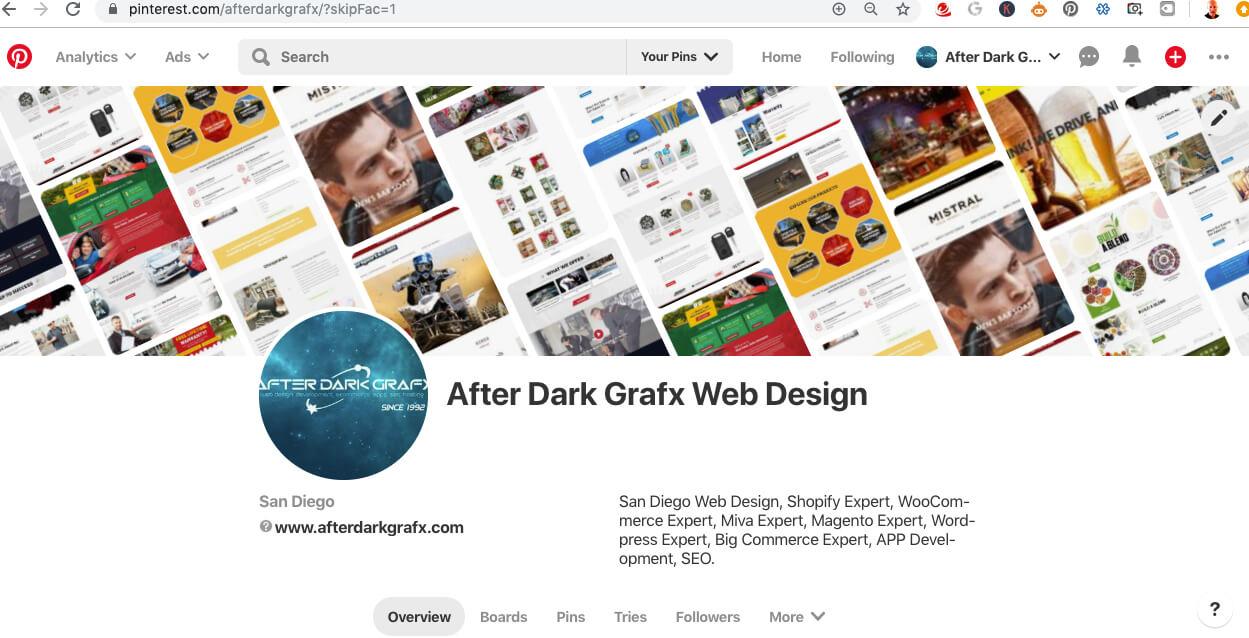 After Dark Grafx on Pinterest San Diego Website Design