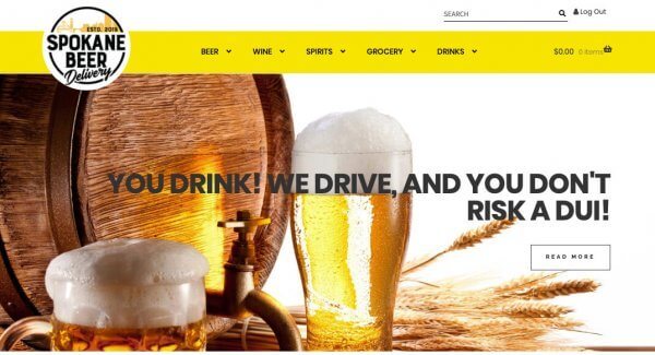 Wordpress Web Design San Diego Spokane Beer Deliver WooCommerce