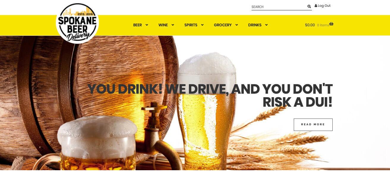 Wordpress Web Design San Diego Spokane Beer Deliver WooCommerce