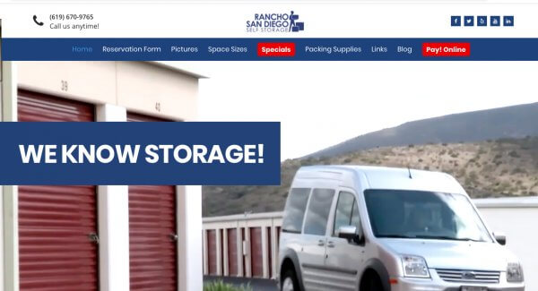 Rancho San Diego Self Storage in Spring Valley Home Page