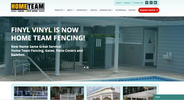 Home Team Vinyl Fence Website Design San Diego After Dark Grafx