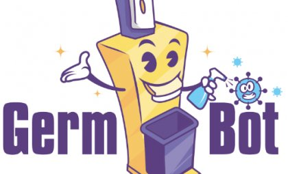 GermBot Logo by James Byrne After Dark Grafx Affordable Logo Design in San Diego