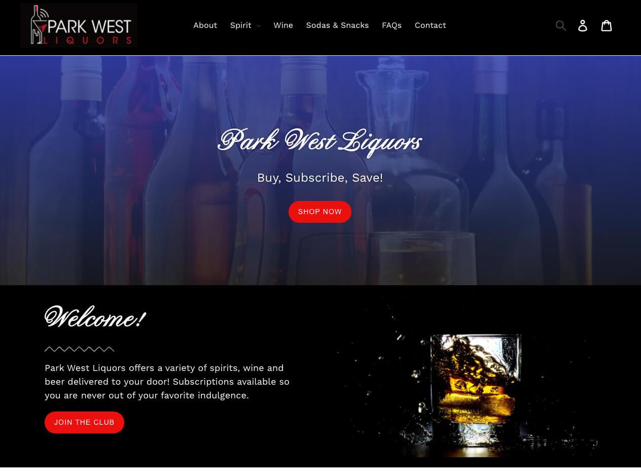 Shopify Developer San Diego - After Dark Grafx Park West Liquors