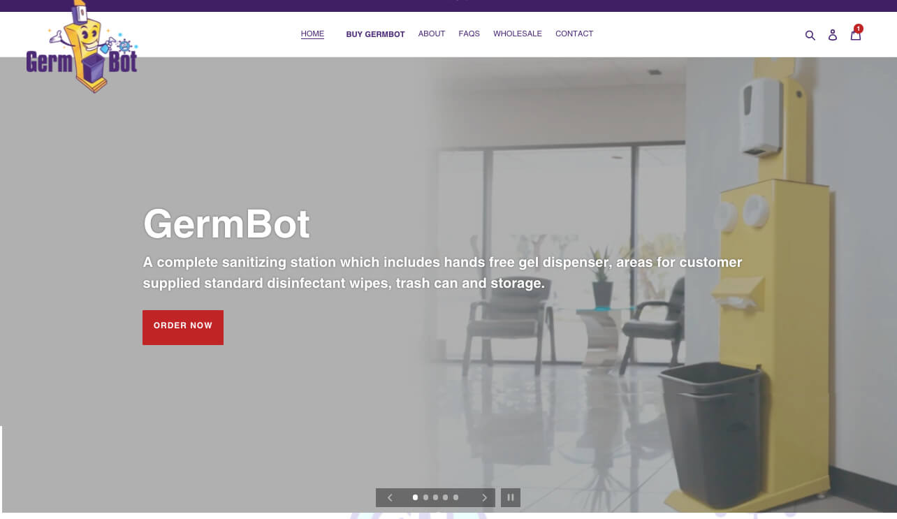 Germ-Bot.com - Shopify Expert Designer Developer After Dark Grafx