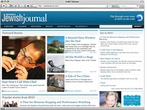 Jewish Journal - Web design and Wordpress integration